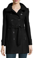 Burberry Daylesmoore Wool-Blend Zip-Pocket Trench Coat