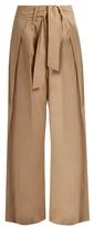 Sea Tie-front wide-leg cotton trousers