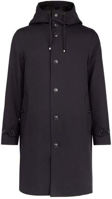 Burberry Cotton Trench Coat with Detachable QuiltedWarmer