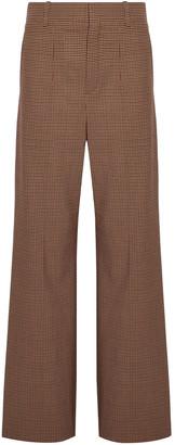 Chloé Houndstooth Jacquard Wide-leg Pants