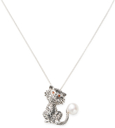 Freshwater Pearl Cat Pendant Necklace