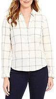 Calvin Klein Jeans Nordic Flannel Hi-Low Hem Shirt
