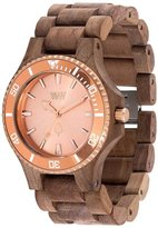 WeWood WE Men's Date MB Nut Rough Rose Gold Walnut Watch