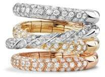 David Yurman Paveflex Four Row Ring With Diamonds In 18K Gold
