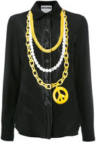 Moschino trompe l'oeil chain shirt - women - Silk - 44