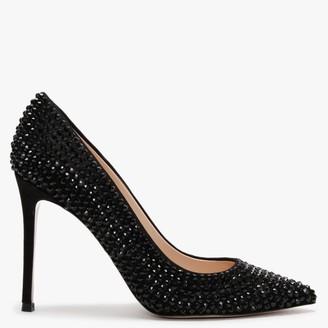 Daniel Pequet Black Suede Embellished Court Shoes
