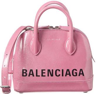 Balenciaga Ville Xxs Patent Top Handle Tote