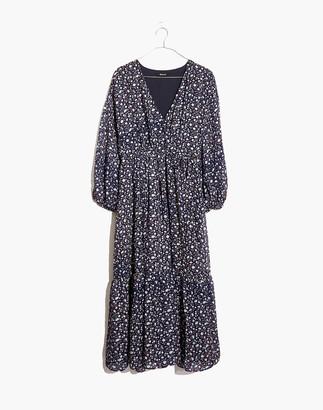 Madewell Tie-Waist Midi Dress in Harvest Vine