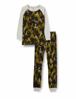 Hatley Boy's Organic Cotton Raglan Long Sleeve Printed Pyjama Set Pajama