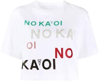 NO KA 'OI logo print T-shirt