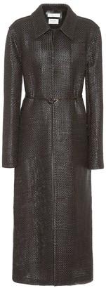 Bottega Veneta Woven leather coat