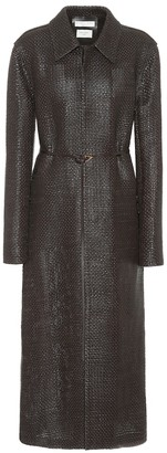 Bottega Veneta Woven leather coat