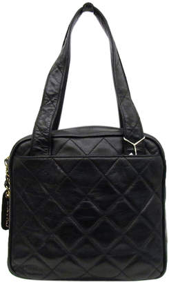 Chanel Black Matelasse Leather Vintage Shoulder Bag