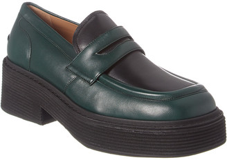 Marni Millerighe Leather Platform Loafer