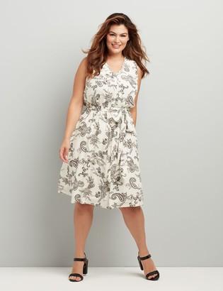 Lane Bryant Gauze Fit & Flare Midi Dress