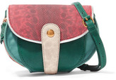 Jerome Dreyfuss Momo Mini Snake And Textured-leather Shoulder Bag - Green