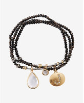 Express faceted j initial stretch bracelet