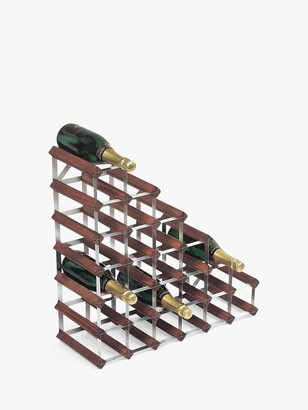 RtA Wood Wine Rack, 27 Bottle, Dark Pine
