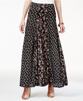 American Rag Juniors' Mixed-Print Maxi Skirt, Only at Macy's