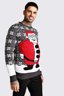 boohoo 3D Santa Fairisle Christmas Jumper