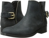 Just Cavalli Stamped Croc Nubuck Ankle Boot