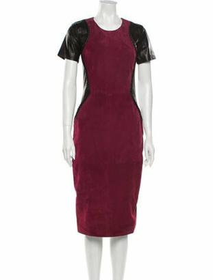 Prabal Gurung Goat Leather Midi Length Dress w/ Tags