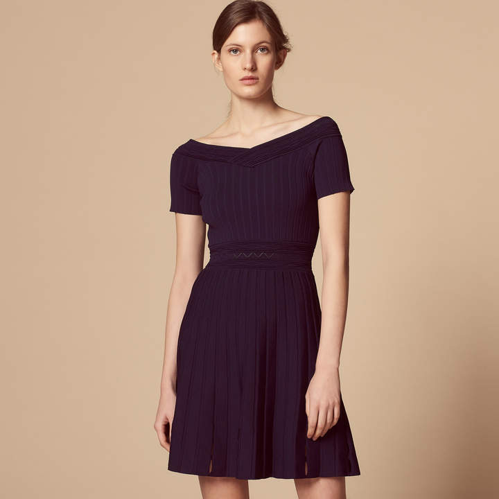 Sandro Knitted dress with seaming effect