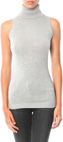 Minnie Rose Super Luxe Sleeveless Turtleneck Sweater