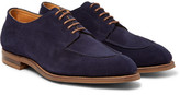 Edward Green Dover Suede Derby Shoes - Navy