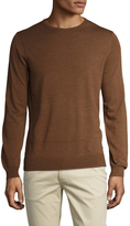 Ben Sherman Men's Merino Wool Solid Crewneck Sweater