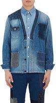 FDMTL Men's Mixed-Pocket Denim Jacket