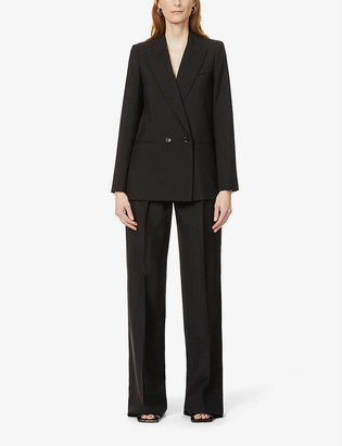 Max Mara Edoardo padded-shoulder mohair and wool-blend jacket