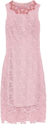 Mary Katrantzou Two Pence Appliqued Guipure Lace Dress