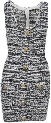 Balmain Boucle Button Detail Dress