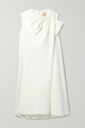 Roksanda Selena Bow-embellished Crepe Mini Dress - Ivory