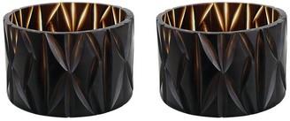 "Aspen Creative Corporation Aspen Creative Brown Glass Votive Candle Holder 4-3/4"" Diameter x 3-1/4"" Height, 2 Pack"