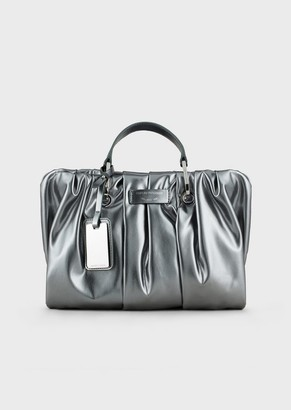 Emporio Armani Myea Bag Small Pleated Shopper Bag