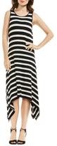 Vince Camuto Women's Desert Stripe Sharkbite Hem Dress