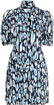 Baum und Pferdgarten Leopard Print Puff-Sleeve Dress