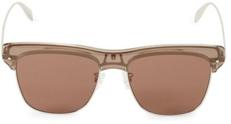Alexander McQueen 55MM Brow Bar Square Sunglasses