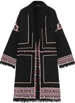 Isabel Marant Brayton Embellished Wool-Twill Coat