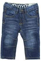 Minymo Baby Unisex Jeans, Leichte Waschung, Elastischer Bund, Alter 12-18 Monate, Größe: 86, Farbe: Blau, 3728