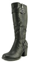 White Mountain Dover Women Round Toe Synthetic Black Knee High Boot.