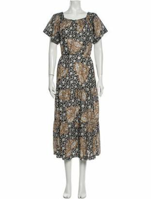 A.L.C. Floral Print Long Dress Floral Print Long Dress