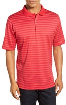 Bugatchi Men's Short Sleeve Stripe Cotton Polo