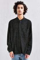 Urban Outfitters Faux Suede Band Collar Button-Down Shirt
