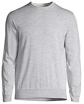 Eleventy Men's Crewneck Cotton Sweater