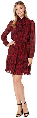 MICHAEL Michael Kors Chantilly Tier Dress (Red Currant) Women's Dress