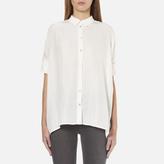 BOSS ORANGE Women's Clen Oversized Shirt Natural