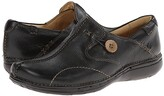 Clarks Un.loop (Black Leather) Women's Slip on Shoes